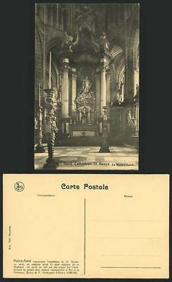 GHENT Gand Old Postcard Cathedrale St. Bavon Cathedral
