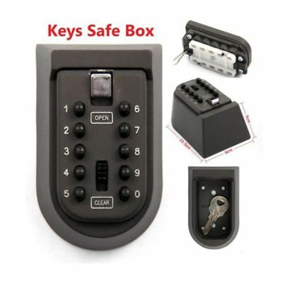 Heavy Duty Home Security Password Key Safe Box Safety Storage Combination Lock