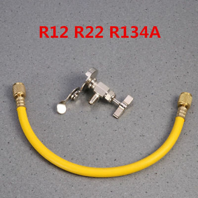 R12 R22 R134A Car A/C Can Tap Tapper Refrigerant Charging Recharge Hose Valve