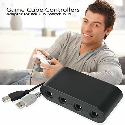 4 Ports GameCube Controller Adapter Converter for Nintedo Switch Wii U & PC USB