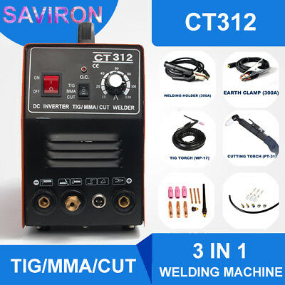 TIG/MMA/CUT Welder Plasma Cutter 110/220V Welding Machine Digital Cutting CT312