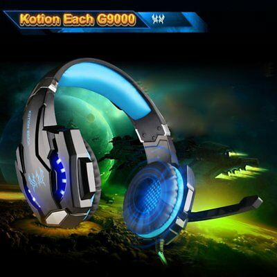 Kotion Each G9000 Gaming Headset with Mic LED Light Fr PS4/Tablet/Cell Phone SN