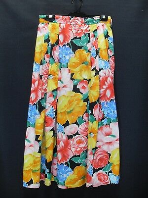 1980's Vintage Skirt in Bright Bold Floral.