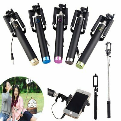 Extendable Selfie Stick Phone Holder Remote Shutter Monopod For Samsung iPhone X