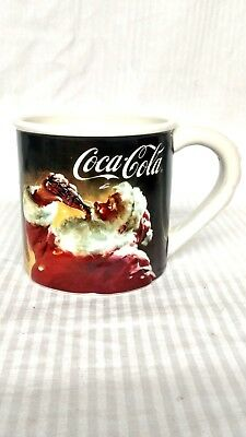 Santa Drinking Coca-Cola 3D 18 fl. oz. Mug Cup Coffee Houston Harvest 2005