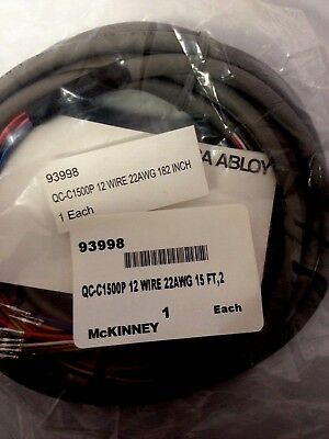McKinney ASSA ABLOY ELECTROLYNX QC-C1500P 12 WIRE 22AWG 15 FT NEW