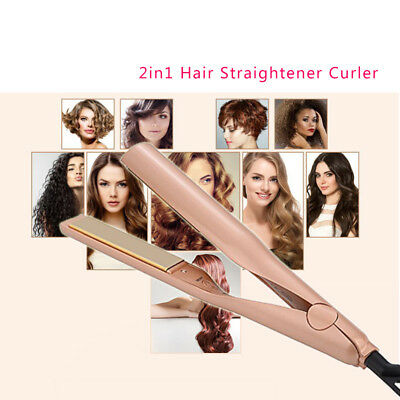 5-Led Iron Pro 2 In 1 Ceramic Straightening Twist Portable Iron Hair Curling-R A