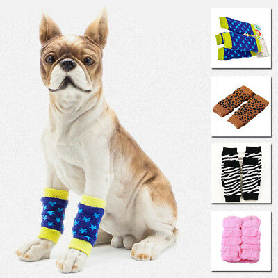 4pcs/Set Cotton Warm Leg Warmer Protector Cover Winter For Pets Animals Injury