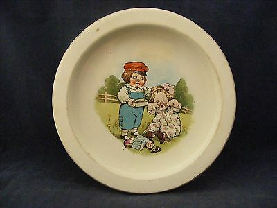 "Vintage Buffalo Pottery Campbells' Kids Soup Cereal Bowl 7.75"" x 1.25"""