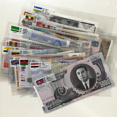 50 foreign banknotes, not repeated, all UNC real money,free shipping !!