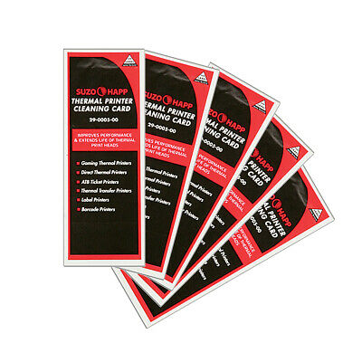 Pkg of 5 Thermal Printer Cleaning Cards