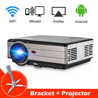 HD Android Home Theater Projector Online Movie WIFI Netfilx Movie HDMI USB+Stand