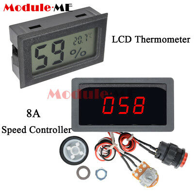 Digital DC 6-30V 12V 24V Max 8A Motor PWM Speed Controller With Display Switch