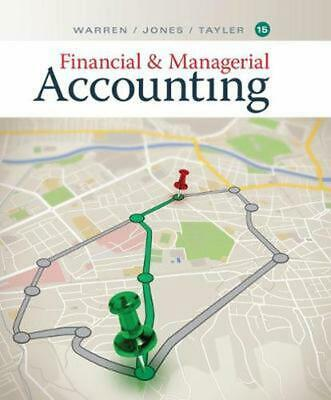 Financial & Managerial Accounting by Carl Warren Hardcover Book Free Shipping!