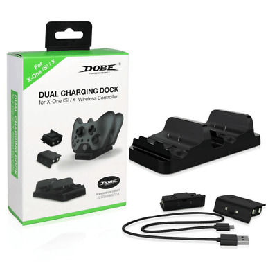 For XBOX ONE Dual Charging Dock Station Controller Charger+ 2 Extra Battery