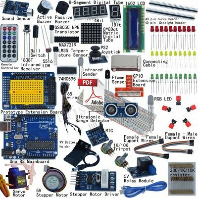 32 Lessons Ultimate Starter learning Kit for Arduino UNO R3 LCD1602 Motor Servo