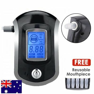 Portable Digital Alcohol Breathalyser Breath Tester Breathtester Blue LCD Hot VG
