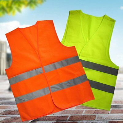 Reflective Safety Visibility Vest Green/Orange Night Running Walking Warning SR