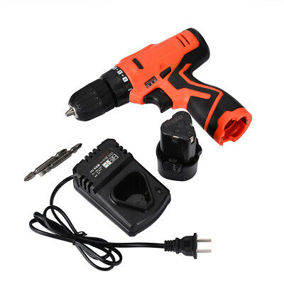 12V Li-Ion LED Light Charger Cordless Electric Hammer Drill Driver Hand Tool