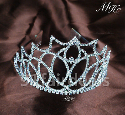Wedding Bridal Crystal Rhinestone Headband Crown W/ Hair Comb Tiara Prom Pageant