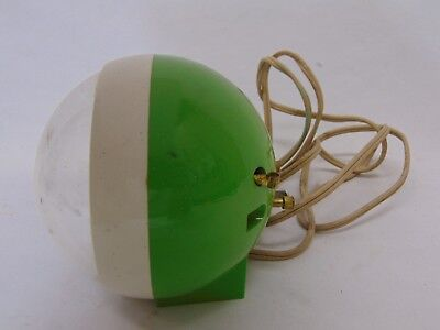 Vintage Mid Century Ge General Electric Alarm Clock Bubble Face-Green Usa Made
