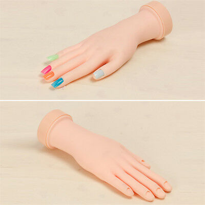 Fake Hand For Nail Art Training And Display Movable Practice Nail Tools Model  I