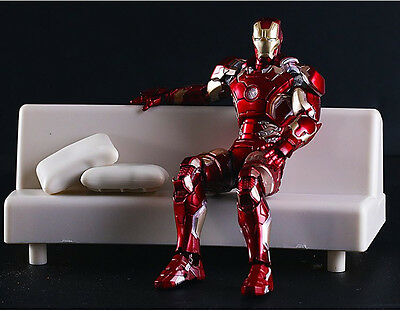 Iron Man Mark 43 With Tony Starks Sofa Action Figure Collectable Marvel Avengers