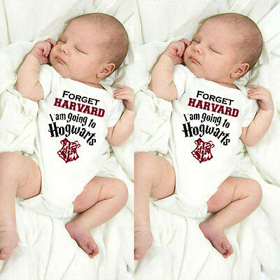 Brand New Boys /Girls Harry Potter Hogwarts Muggle Baby Romper Babygrow Clothing