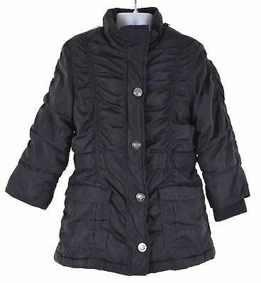 LONDON FOG Girls Padded Jacket 5-6 Years Medium Black Polyester  EU04