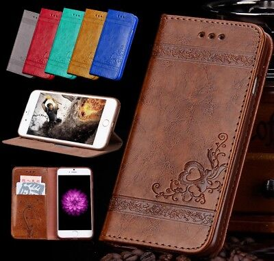 Genuine Luxury Leather Flip Wallet Phone Case for Apple iPhone 6 6S 7 8 Plus BY