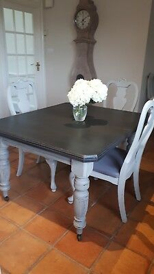 Victorian shabby chic kitchen dining table