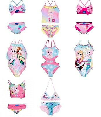 Girls swimwear bikini swimming costumes Frozen Disney character new licensed