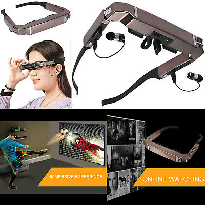 """80"""" Screen Vision-800 3D Video VR Glasses 5MP Camera Bluetooth for Android 4.4"""