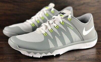 a49e3949411d56 Nike Free Trainer 5.0 V6 Training Shoes White Wolf Grey 719922-100 New Mens