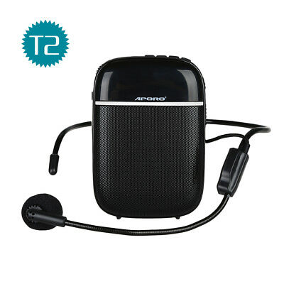 Aporo T2 Waistband Voice Amplifier Booster Microphone Loudspeaker For Teacher AU