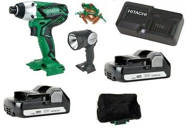 Hitachi  Wh18Dgl 18V Impact Driver Full Kit  With Torch In Toolbag