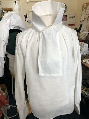 Georgian/ Regency Style Ivory Linen Shirt And Neckcloth.