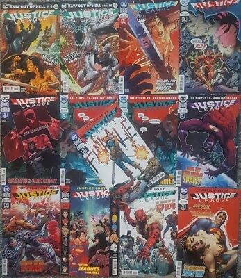 DC UNIVERSE JUSTICE LEAGUE ( ISSUES 32 - 43 ) 1ST print editions
