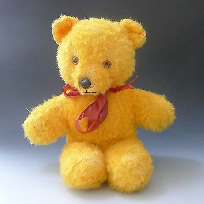 Vintage old CHILTERN HYGENIC TOYS plush yellow teddy bear 16 inches