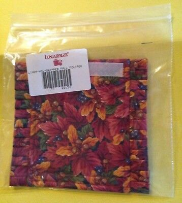 Longaberger Handle Gripper Fall Foliage Fabric #23159 Autumn NIP