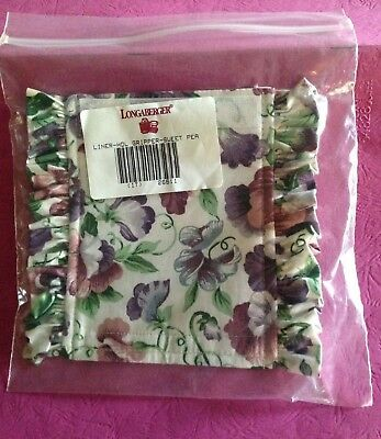 Longaberger Handle Gripper #26611 Sweet Pea Fabric Spring Floral NIP