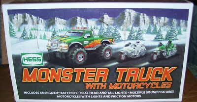 2007 Hess Monster Truck With Motorcycles In Box
