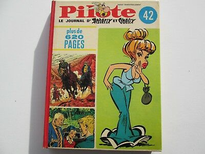 Pilote Recueil Du Journal Album Reliure Belge N°42 Be/tbe Couverture Asterix