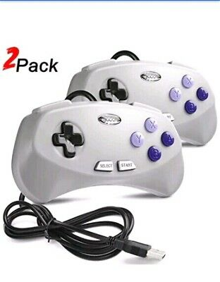 2 Pack USB SNES Retro Gaming Controller, miadore Classic USB Gamepad for Windows