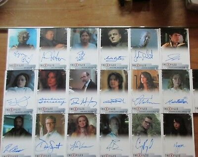 X-Files Seasons 10 & 11 - 19 Card Autograph Set / Lot of Common & Limited Auto's