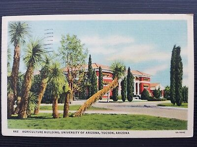 1937 University of Arizona Agriculture Building Post Card