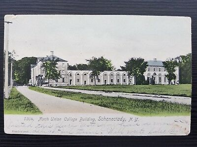 1907 North Union College Building, Schenectady, NY, Post Card