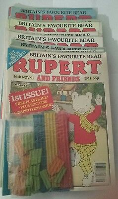 RUPERT AND FRIENDS COMIC COLLECTION - 37 issues - some with gifts - Fantastic