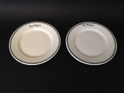 """Hayes - Bickford's Cafetertia  China Dinner Plates (2-9"""")"""