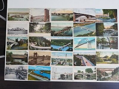 Collection of 51 Post Cards with Bridges, US and Canada